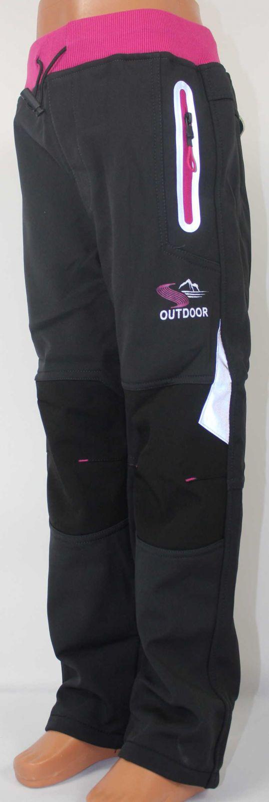 Dětské zateplené softshellové kalhoty KUGO, podzimní kalhoty, dívčí softshellové kalhoty, zateplené kalhoty, kugo oblečen, dětské oblečení