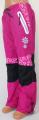 Zateplené šusťákové kalhoty KUGO  - růžovo-černé