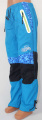 Zateplené šusťákové kalhoty KUGO  - sv.modré