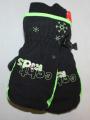 Dětské zimní rukavice - palčáky - černo-zelené