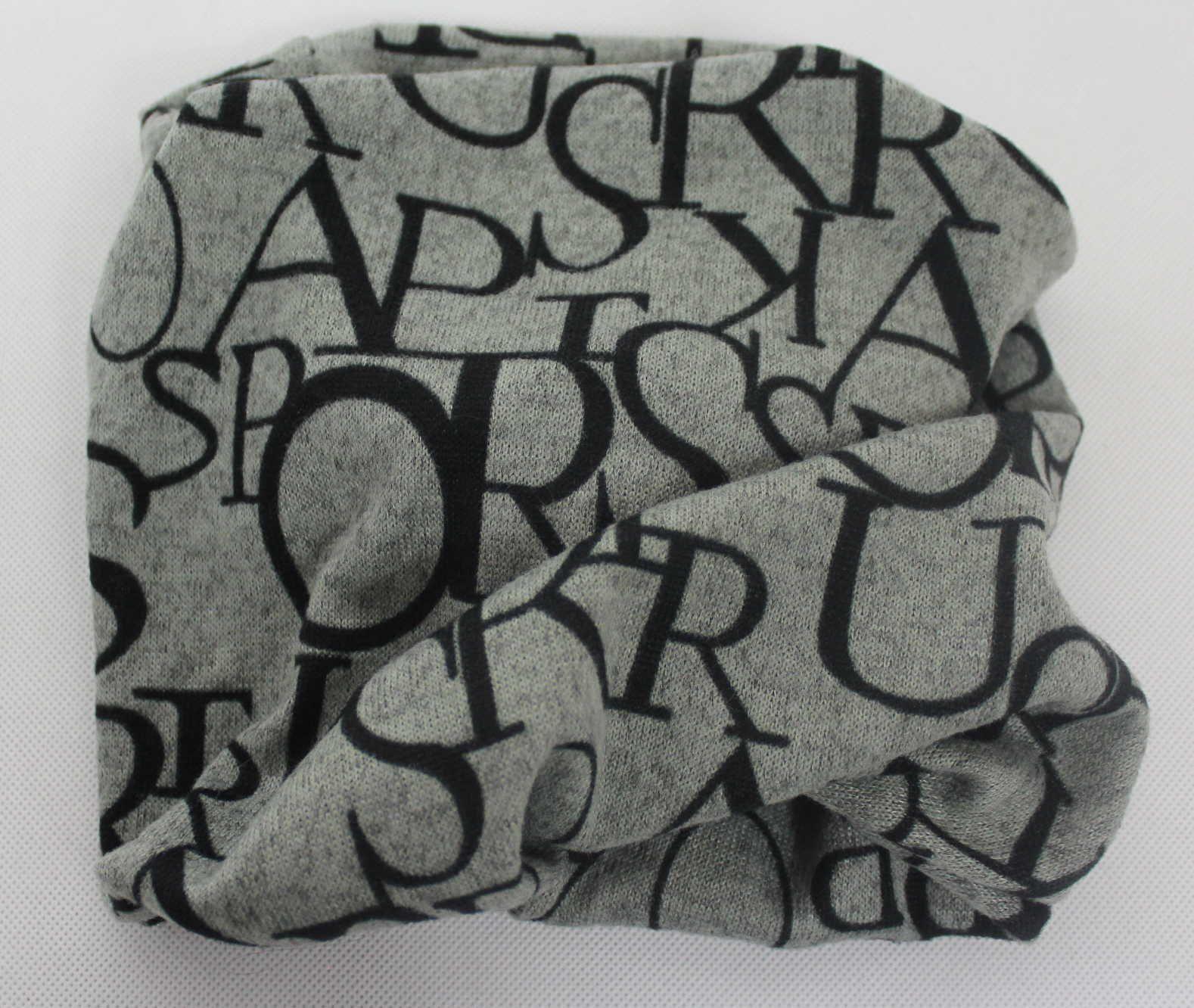 Šátek, nákrčník, dětský nákrčník, dámský nákrčník, dámská čepice, šedá čepice