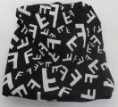 Multifunkční šátek/nákrčník/čepice/ čelenka - černý 2