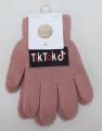 TIK TOK dětské prstové rukavice - starorůžové