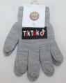 TIK TOK dětské prstové rukavice - šedé