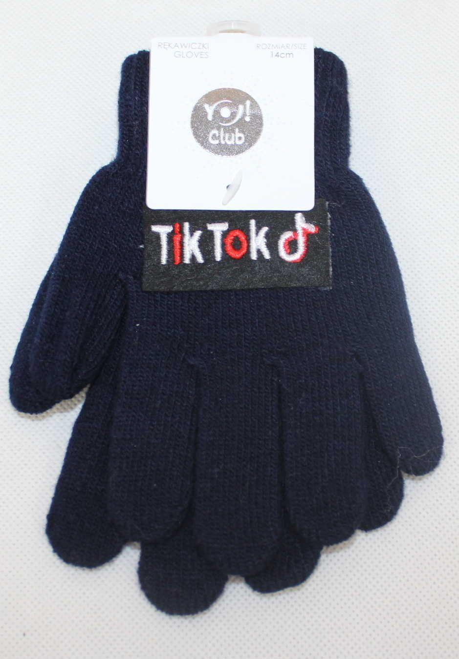 TIK TOK dětské prstové rukavice, TIK TOK úpletové rukavice, dívčí tik tok rukavice, chlapecké prstové rukavice TIK TOK