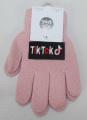 TIK TOK dětské prstové rukavice - růžové