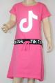 TIK TOK šaty bavlněné - krátký rukáv - sv.růžové