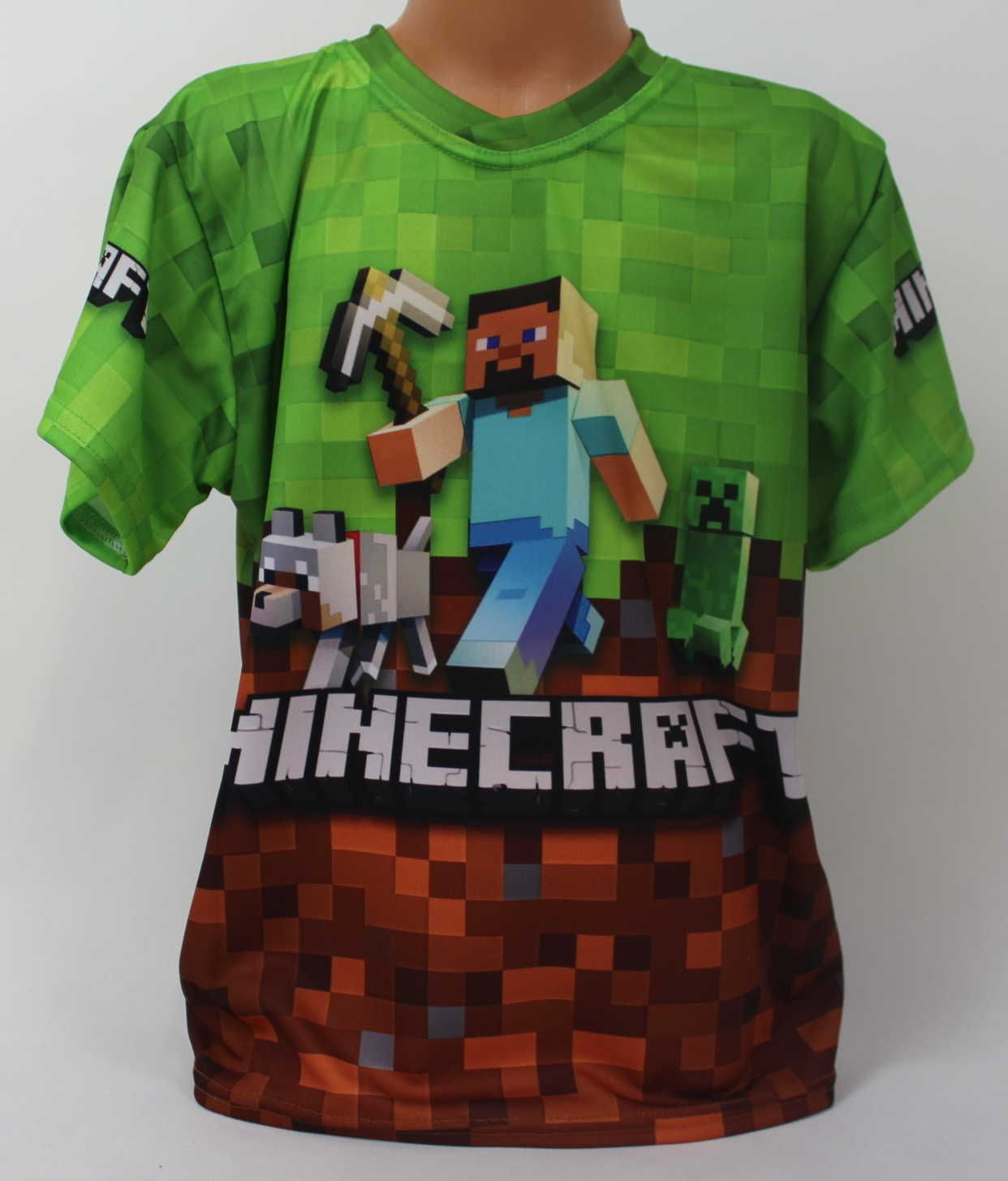 Triko krátký rukáv Minecraft, chlapecké tričko Minecraft, oblečení Minecraft