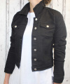 Dámská džínová bunda - černá  - vel. S - 2XL
