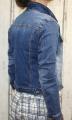 Dámská džínová bunda tmavě modrá, letní džínová bunda, džínová elastická bunda, modrá džíska, modrá džínová bundička Italy Moda
