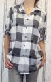 Dámská letní košile, dámská dlouhá košile, dámská volná košile, dámská košile kostka, dámská košilová tunika, kostkovaná košile Italy Moda