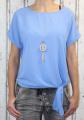 Dámská tunika, halenka s uzlem a s přívěskem -  sv. modrá