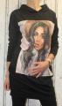 Dámské bavlněné šaty, dámská dlouhá mikina, mikinové dlouhé šaty Italy Moda