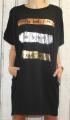 Dámské bavlněné šaty, pohodlné šaty, dámské šaty volný střih, dámské černé šaty