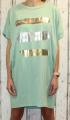 Dámské bavlněné šaty, pohodlné šaty, dámské šaty volný střih, dámské zelené šaty