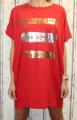 Dámské bavlněné šaty, pohodlné šaty, dámské šaty volný střih, dámské červené šaty