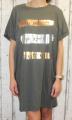 Dámské bavlněné šaty, pohodlné šaty, dámské šaty volný střih, dámské khaki šaty