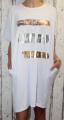 Dámské bavlněné šaty, pohodlné šaty, dámské šaty volný střih, dámské bílé šaty