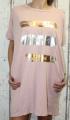 Dámské bavlněné šaty, pohodlné šaty, dámské šaty volný střih, dámské starorůžové šaty
