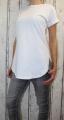 Dámské dlouhé tričko s rozparky po stranách - bílé