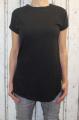 Dámské bavlněné tričko krátký rukáv, dámské dlouhé tričko tričko s rozparky, dlouhé černé tričko, dlouhá tunika Italy Moda
