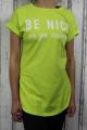 Dámské dlouhé tričko Be Nice - limetkové