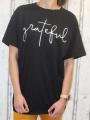 Dámské dlouhé, bavlněné tričko GRATEFUL - černé