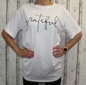 Dámské dlouhé, bavlněné tričko GRATEFUL - bílé