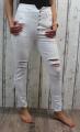 Elastické džíny s vysokým pasem - bílé