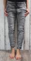 Dámské mačkané trendy džíny - šedé