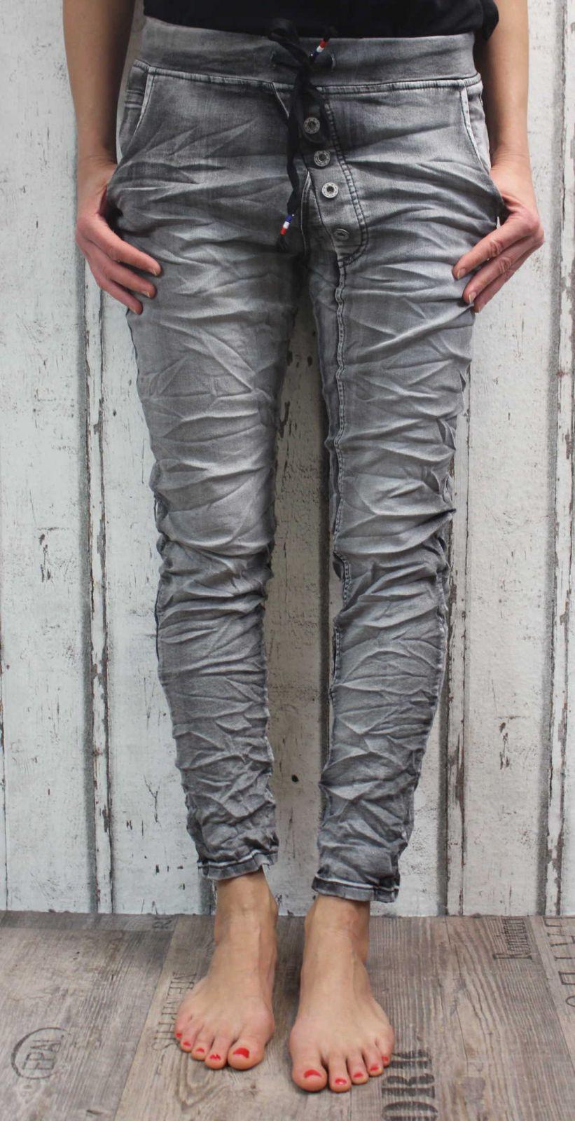 dámské elastické džíny, džíny slimky, dívčí slimky, dívčí elastické džíny, mačkané džíny, pružné džíny, dámské šedé džíny Denim