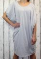 Dámské bavlněné volné šaty- šedé