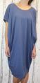 Dámské bavlněné volné šaty- modré 2