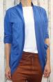 Dámský bavlněný, letní kardigan - modrý