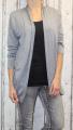 Dámský lehký, úpletový svetřík/kardigan - šedý