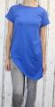 Dámské dlouhé tričko zkosený střih - modré
