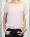 Dámské volné tričko kr.rukáv s průstřihem na zádech - starorůžové