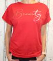 Dámské volné tričko Beauty - červené