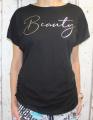 Dámské volné tričko Beauty - černé