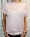 Dámské tričko krátký rukáv, tričko spadlá ramena, dámské volné triko, pohodlné dámské tričko, dámská tunika, volné tričko přes břicho, tričko s rantlem, růžové volné tričko s nařasením na bocích Italy Moda