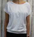 Dámské volné tričko kr.rukáv s průstřihem na zádech - bílé
