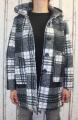 Dámský oversized kostkovaný kabát