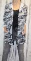 Dámský maskáčový kardigan  - šedý