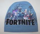 Dětská bavlněná čepice - Fortnite - sv.modrá