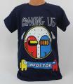 Dětské bavlněné tričko krátký rukáv Among Us - tm.modré