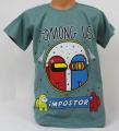 Dětské bavlněné tričko krátký rukáv Among Us - mintové
