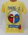 Dětské bavlněné tričko krátký rukáv Among Us -  žluté
