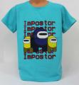 Dětské bavlněné tričko krátký rukáv Among Us 2 -  tyrkysové
