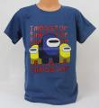 Triko krátký rukáv Among Us, chlapecké tričko Among Us, oblečení Among Us, bavlněné tričko Among Us, tm.modré tričko Among Us | 140, 146, 164, 176