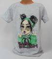 Dětské bavlněné tričko Billie Eilish - šedé